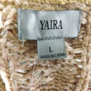 Yaira Sweaters - NWT Womens YAIRA Sweater - Tan/Metallic L